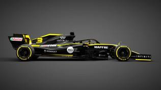 2019 Renault R.S.19 prezentacja grafika bok
