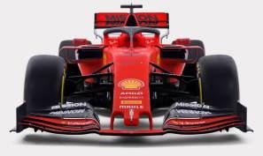 2019 prezentacja grafika Ferrari SF90 przód 2