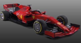 2019 prezentacja grafika Ferrari SF90 skos