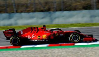 2020 Testy Barcelona Vettel Ferrari