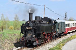 Parní lokomotiva Ventilovka v Postupicích