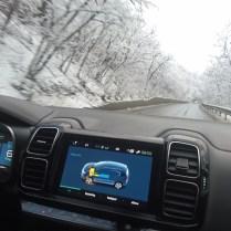 Citroen jízda po zimních silnicích 1