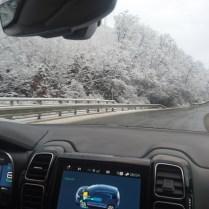 Citroen zimní silnice 2