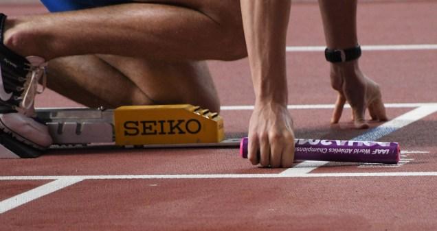 Smíšená štafeta 4x400 m Jan Tesař, Lada Vondrová, Tereza Petržilková a Patrik Šorm
