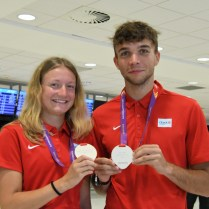 Atletika, přílet medailistů z MEJ 2021 (68)