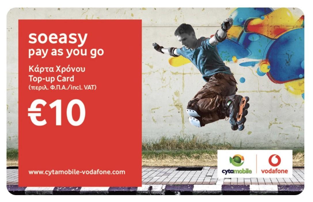 €10 soeasy top-up voucher
