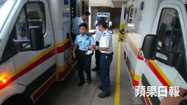 Three injured HK cops treated