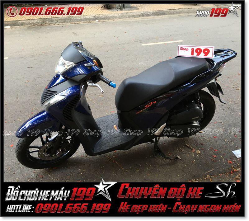 Xe Honda Sh Việt 150i đời 2013 2014 2015 màu xanh dương độ full thành Sh Ý Sporty black edition