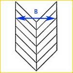 Calculate Chevron Flooring Pattern