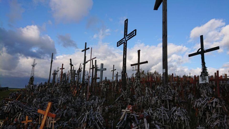 Góra Krzyży, Sanktuarium Święta Woda, Matka Boża Bolesna, modlitwa 7 Ojcze Nasz