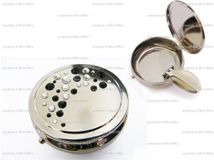 pocket ashtray decorated with Swarovski crystals