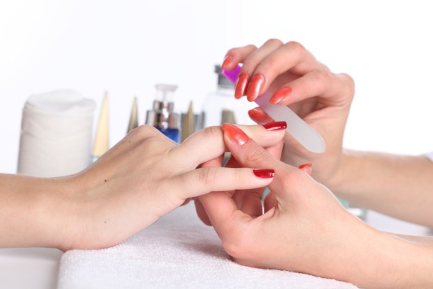 Remove acrylic nails by visiting a salon
