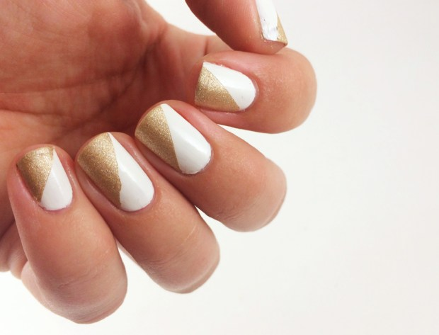 Diagonal Shape Nail Art