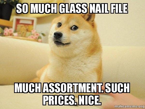 Much glass nail files