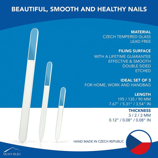 Glass nail files infographic