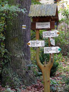 Czech hiking signs