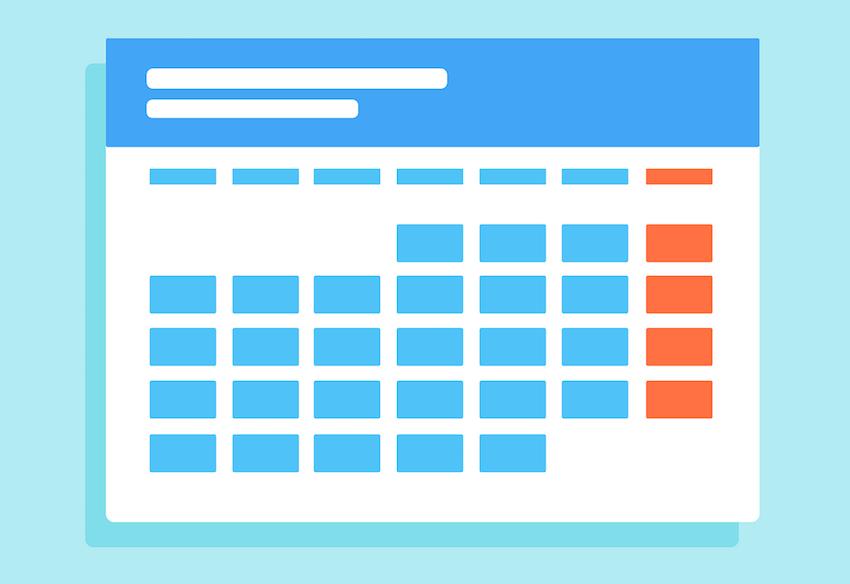 kalendar ilustracija za web stranicu Godišnji planovi i programi rada