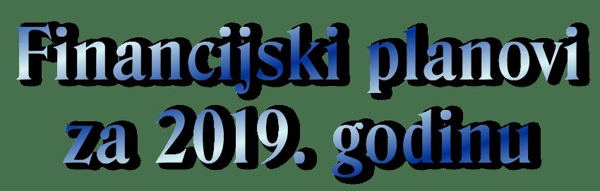 Financijski planovi Centra za 2019. godinu - dekorativni naziv stranice