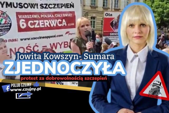 """Jowita Kowszyn-Sumara jedna z twarzy Zjednoczonych na """"Międzynarodowym proteście przeciwko przymusowi szczepień."""""""