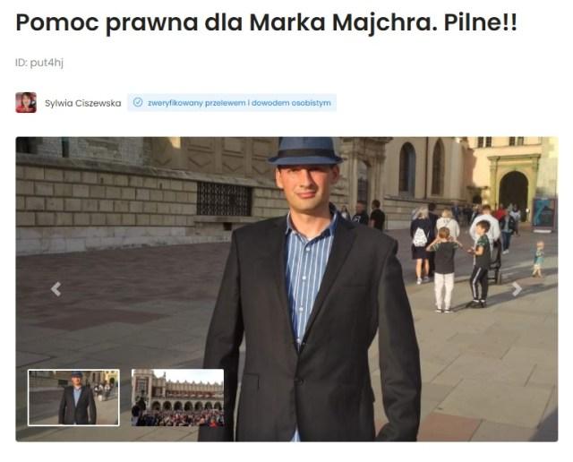 Zrzutka na adwokata dla Marka Majchra