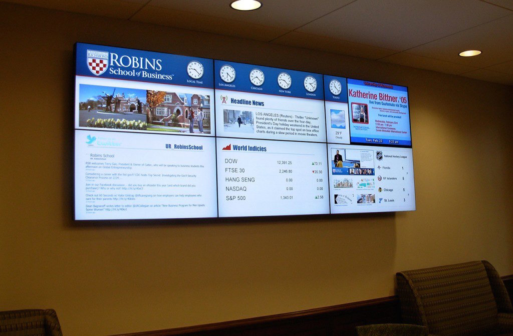 welcome messages digital signage