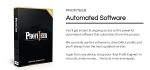 Profiteer is a Training and Software Which Teaches You How To Profit Using 1 Unique Method 5