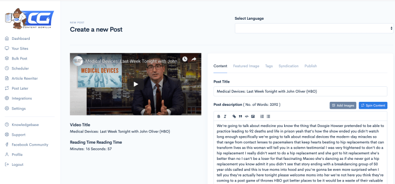 Generate Instant Traffic by Converting ANY YouTube Video Into a Fully Formatted Blog Post 2