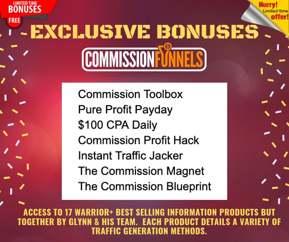 """Get Your Own """"DONE FOR YOU"""" Affiliate Commission Funnels To Help You Earn From Zero to 3+ figure in daily profits 9"""