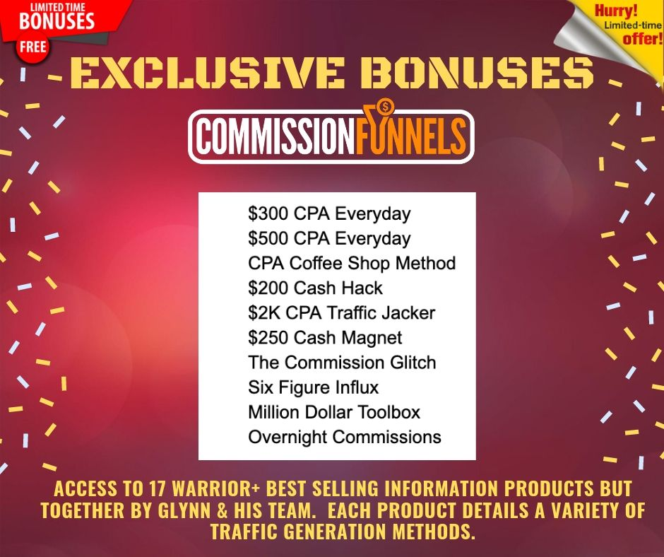 """Get Your Own """"DONE FOR YOU"""" Affiliate Commission Funnels To Help You Earn From Zero to 3+ figure in daily profits 8"""