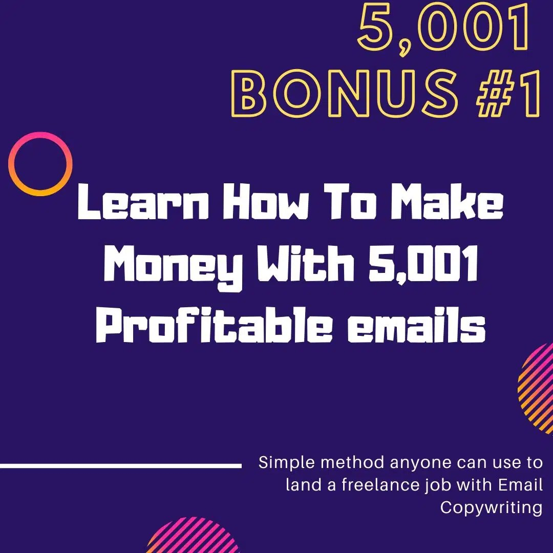 The Grande Finale | 5,001 Profit Producing Emails Awaits You 5