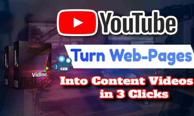 Turn LINKS into VIDEOS in minutes using VidInc
