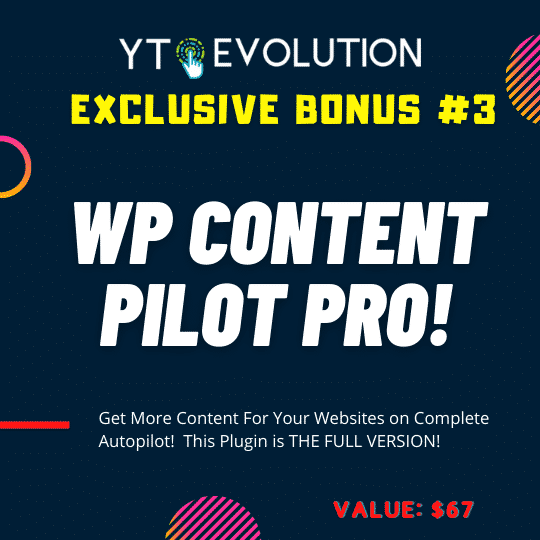 YT Evolution Review   Turn YouTube channels into a monetizable & automated Wordpress website 10