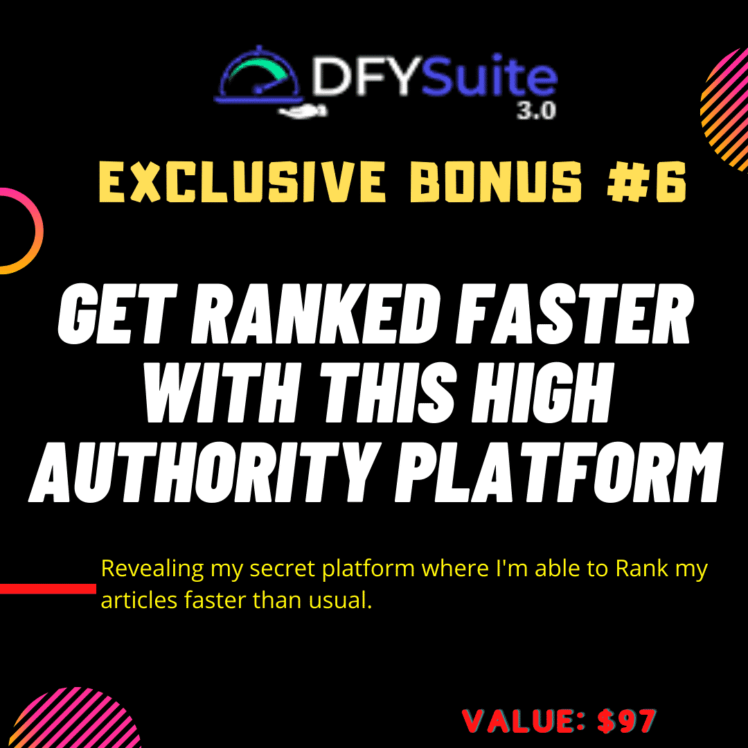 DONE-FOR-YOU Page 1 Rankings with DFY Suite 3.0 13