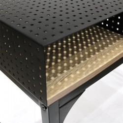 bureau design metal et bois 100cm hd6422