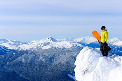 Enjoying the views from Whistler Peak