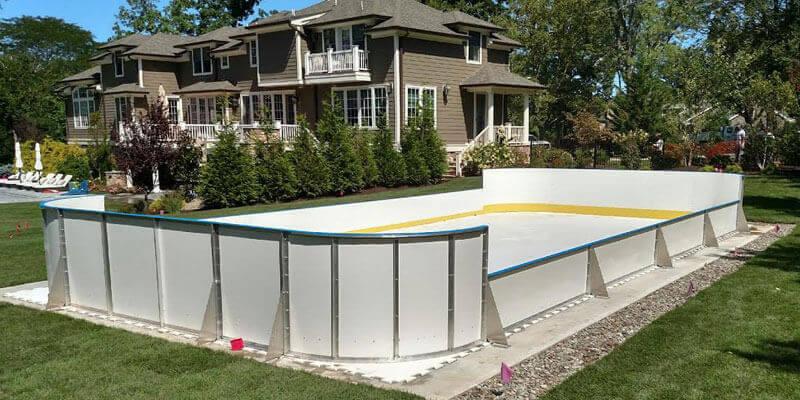 backyard synthetic ice rink