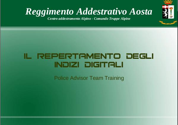 Police Advisor Team Training