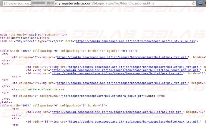 codice html
