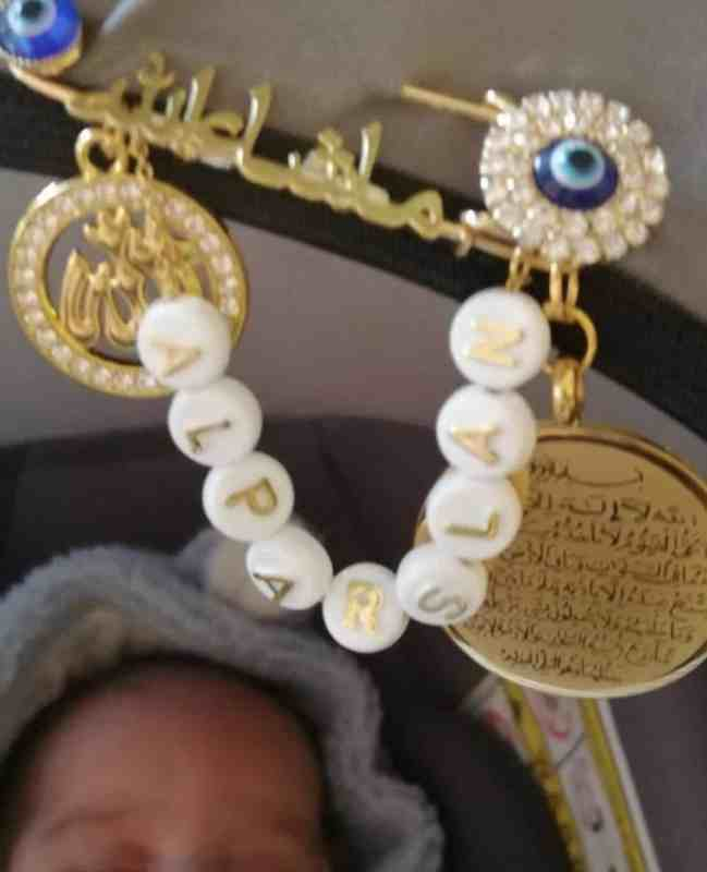 Anstecknadel alparslan allah ayatalkursi baby