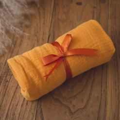 babygeschenk set gelb babytuch
