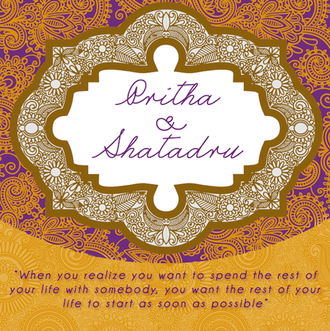 Pritha's Wedding Invitation