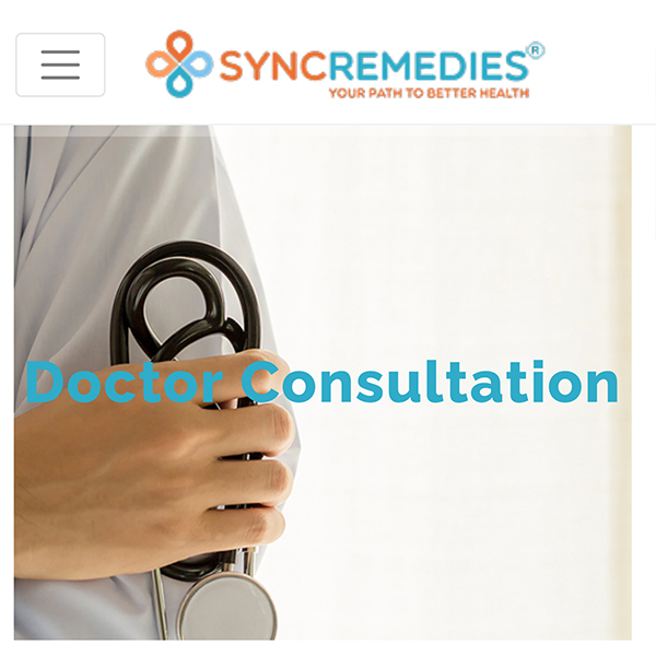Syncremedies Website Design