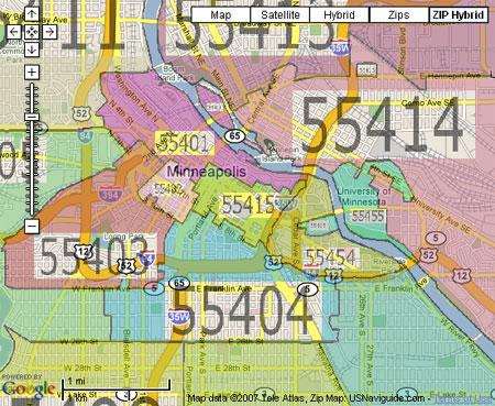 Mpls Zip Code Map | Zip Code MAP