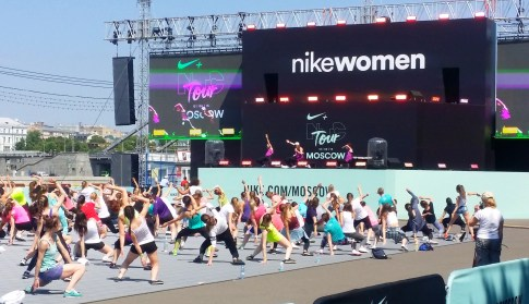 Nike Woman Sports Day Moscow