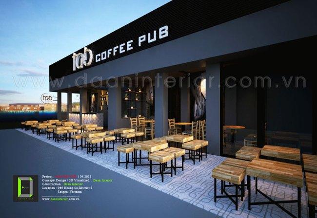 Mặt tiền pub-tab cafe
