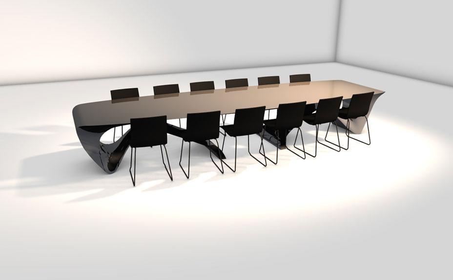 Concept Ontwerp Boardroom Tafel Daan Mulder Interior