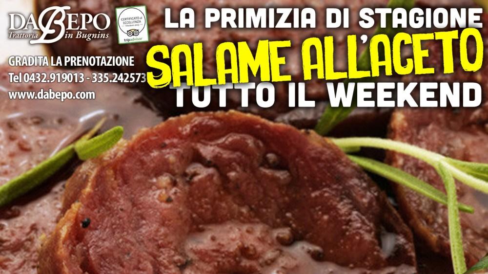 Salame Aceto 1024x576 15, 16, 17 Settembre: Speciale salame allaceto primizia di stagione