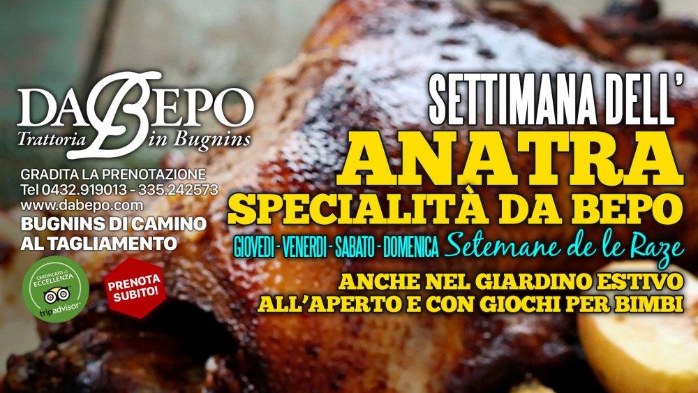 Anatra 1024x576 17 20 Maggio 2018   Settimana dellAnatra Da Bepo