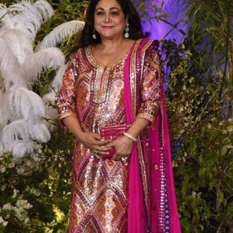 Tina Ambani multicolour mirror work outfit