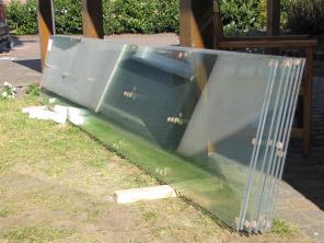 Das Glas für's Dach.